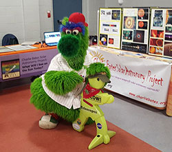 Timmy and the Phillie Phanatic