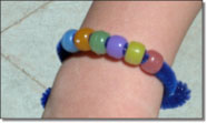 UV color changing bead bracelet