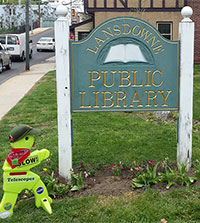 Timmy visits Linda's Lansdowne Public Library in PA