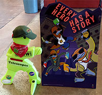 Timmy Telescope with SRP poster-Every Hero has a Story
